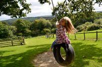 Fab fun on the rope swing