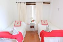 Twin room with shutters so little ones can sleep