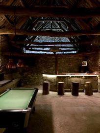 pool table, bar and karoke