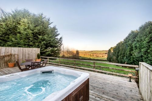 Amazing views from the Fron Fawr hot tub
