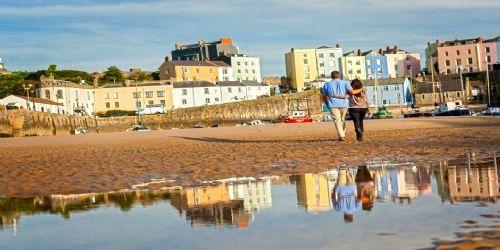 Romantic walks at Tenby harbour