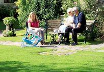Three generations holidaying at Clydey