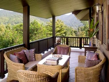 One of 9 balconies ideal for dining