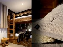 The cosy triple bunk bedroom