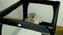 Ample space for a cot in the master bedroom - with mattress and washable soft toys