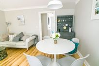 Lounge and dining table.