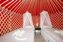 Eco Twin Yurt smaller pod