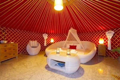 Family Friendly Holidays at Luxury Family Yurt Duo