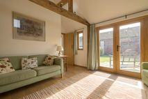Kingfisher Sitting Room with french doors to garden