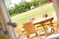 Avocet terrace overlooking gardens