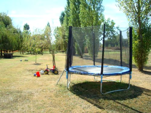 More ride on toys and the trampoline in the games field