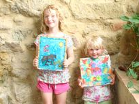 Silk painting workshops for all ages held at Sevenne weekly.