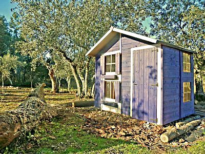 Wooden wendy house in the cottage grounds