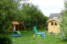 Chateau de Chargé - rear garden play area