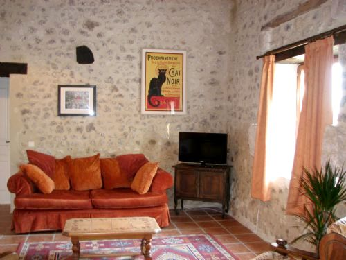 lounge with UK satellite television