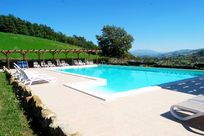The stunning pool with heated kiddy pool & pool slide