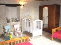 lower tower bedroom, baby equipment provided