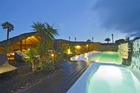 Finca de Arrieta Pool by night