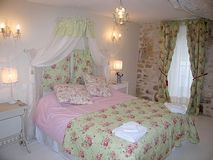 The pretty bedroom - with room for a travel cot or folding bed