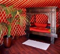 Inside the Luxury Yurt