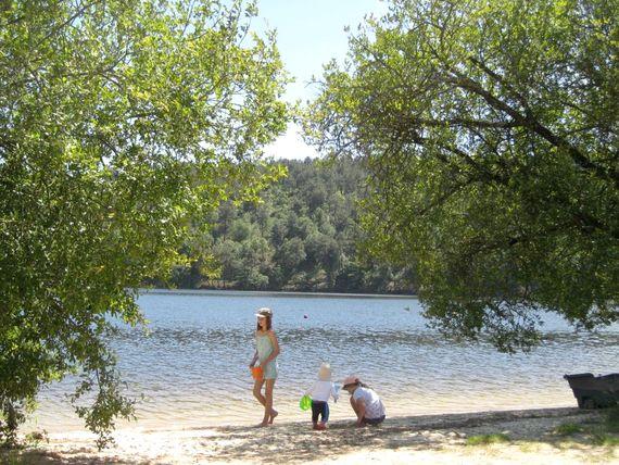 Beach at the Lac de Guerledan