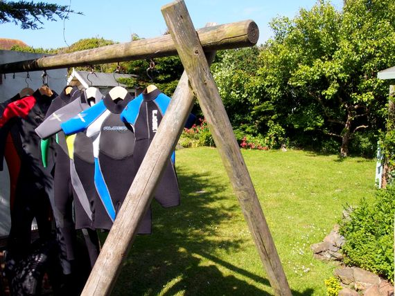 Wetsuit drying facilities