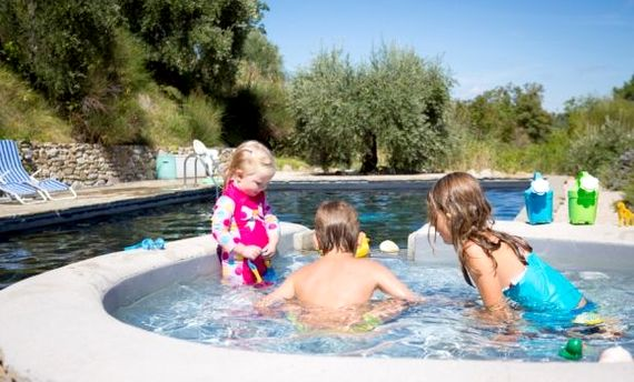Shallow and safe heated toddler pool