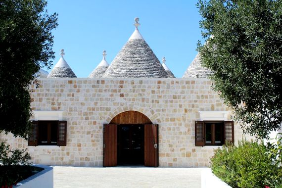 Ample space all around the trullo