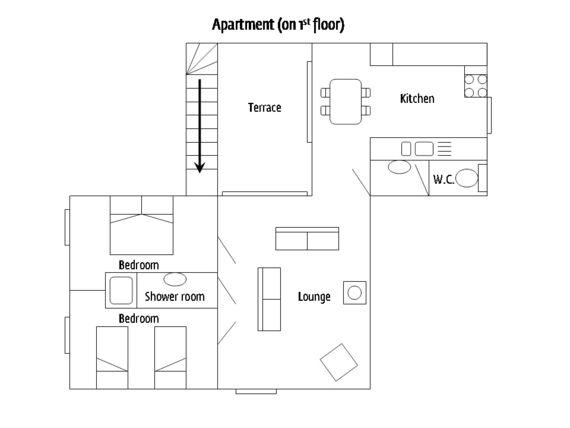 La Cachette - Floor plan