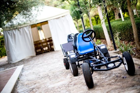 Go-carts can be used on our internal roads