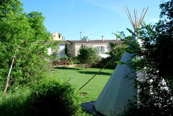 Cottages, tipi and grounds