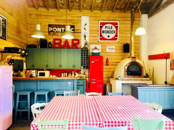 The bar in the barn