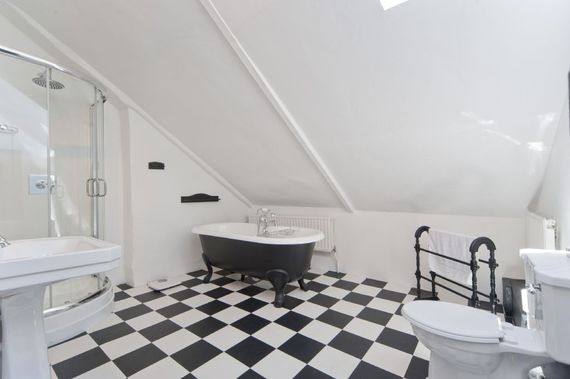 Indulge in a bit of 'me'time in one of the roll top baths