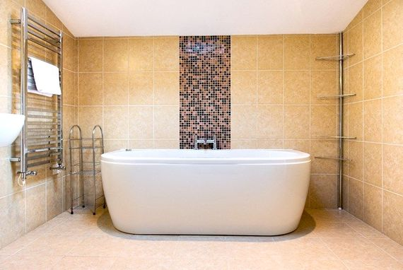 Jacuzzi bath, why not indulge with a chilled glass of wine?