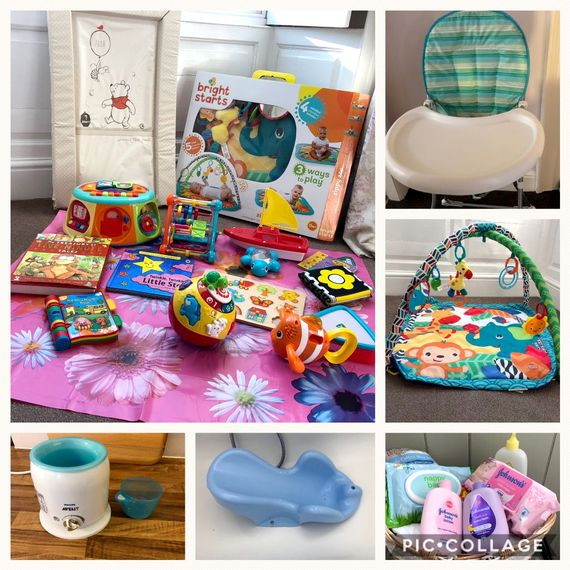Some of our baby items provided