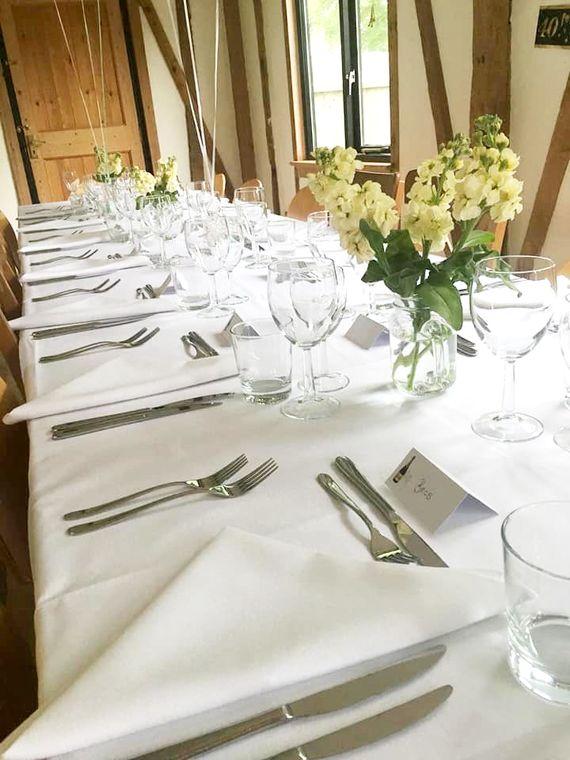 Guest's birthday dinning