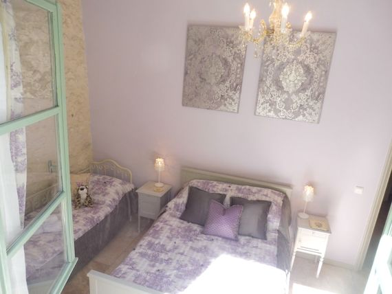 Vionnet triple bedroom with large double bed and single bed