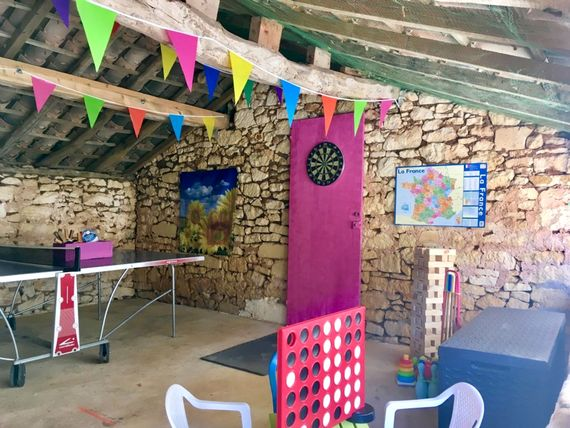 Fully stocked games room, great place for all ages to have fun and take shade from the summer heat!