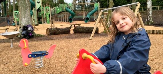 5 minute stroll to free adventure playground at Blockhole visitor centre
