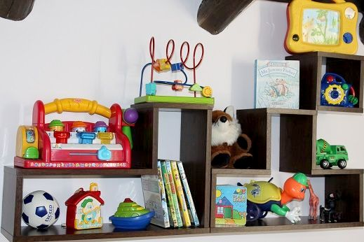 A selection of toys and DVDs