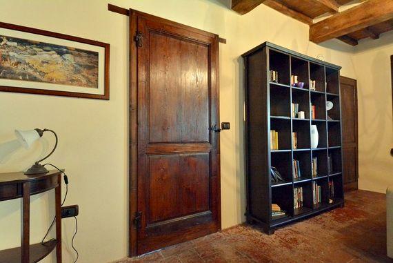 Library and door to bedroom