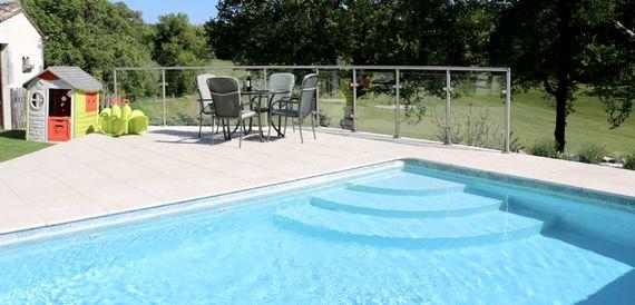 Have fun in the heated pool