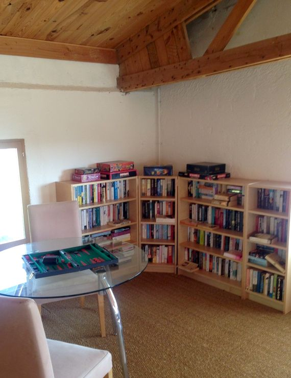The Games Room: there is no shortage of holiday reading here in our adult book corner!