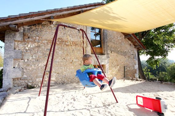 Lots of outdoor play spaces - sandpit, swings and slides