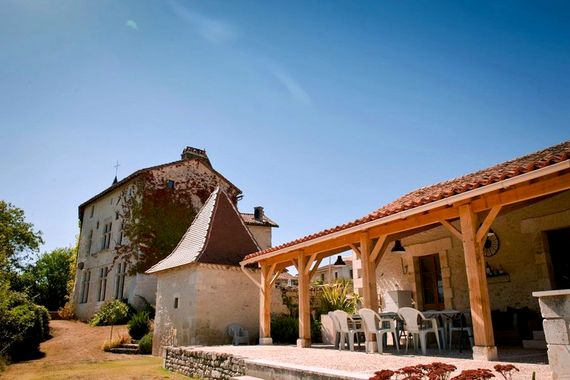 Bergerie terrace - our social hub, wine tasting and pizza nights here