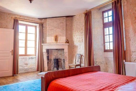 Petit Chateau upstairs master bedroom with en-suite