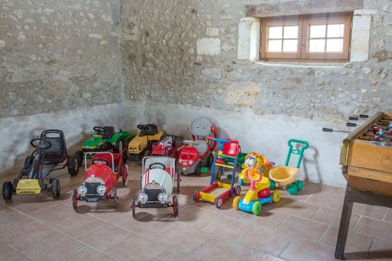 some of the toys in the playbarn