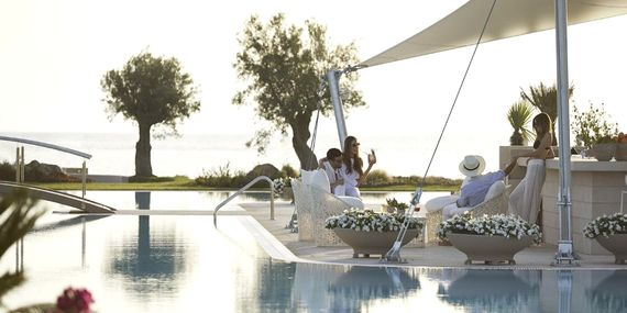 Sani Dunes- Family Room with Private Garden Image 1