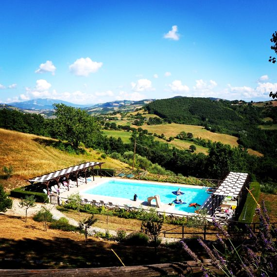 The Pool at Umbria with Kids