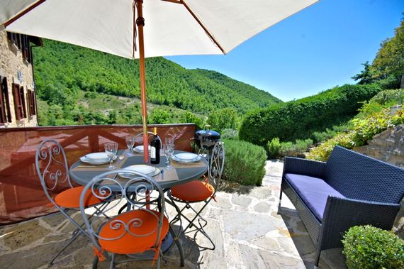 The second outdoor terrace, a perfect place for breakfast